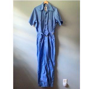 WOLF Blue Jumpsuit L/XL Vintage